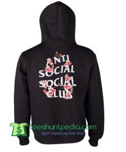 Anti Social Club Flowers Hoodie Maker Cheap