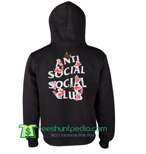 97ca43779 Anti Social Club Flowers Hoodie Maker Cheap from teeshuntpedia.com