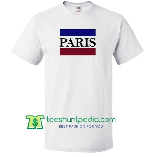 Paris Letter Printed T Shirt Maker Cheap