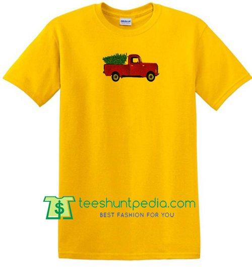 Red Truck in Yellow T Shirt Maker Cheap