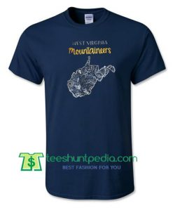West Virginia Mountaineers Tee, Game Day, Morgantown WV, Gold & Blue, WVU Shirt Maker Cheap