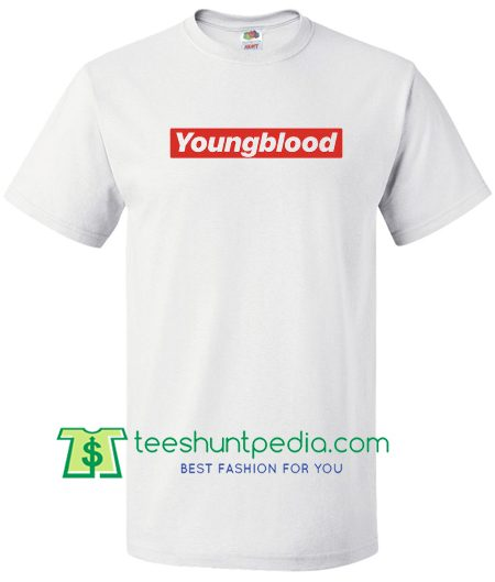 Youngblood Logo Supreme Shirt, 5 Seconds of Summer T Shirt Maker Cheap