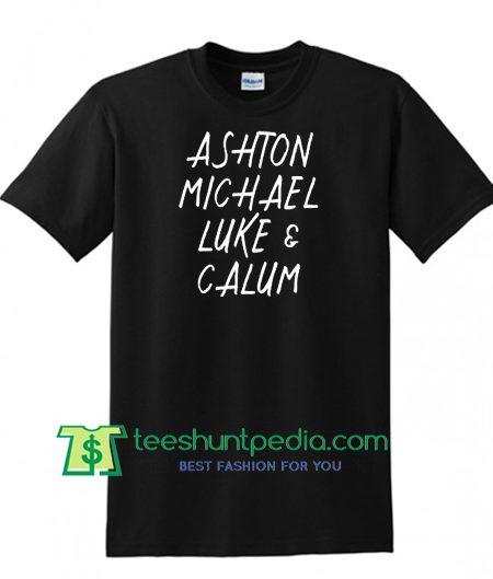 5SOS Shirt, Ashton Michael Luke and Calum Shirt, 5 Seconds of Summer Shirt Maker Cheap