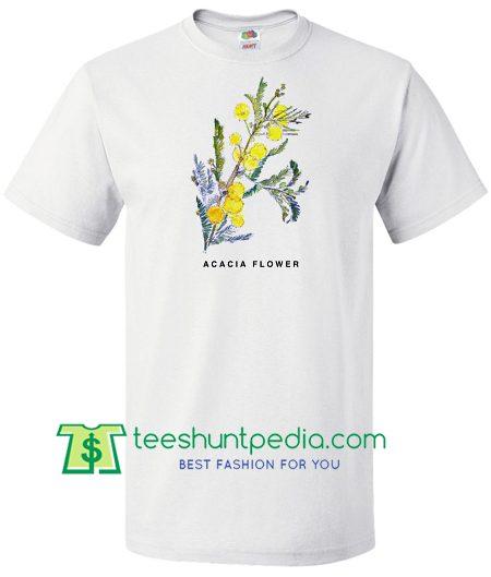 Acacia Flower Shirt, Botanical Art Shirt, Art T Shirt Maker Cheap