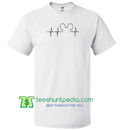 Mickey Mouse Heartbeat T Shirt Maker Cheap