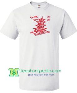 Thank You Pagoda T Shirt Maker Cheap
