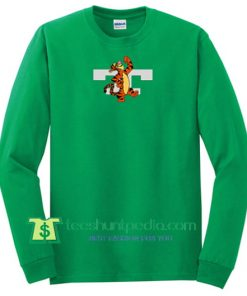 Tiger Green Unisex Sweatshirt Maker Cheap