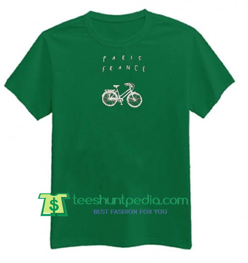 Paris France Bike T Shirt Maker Cheap