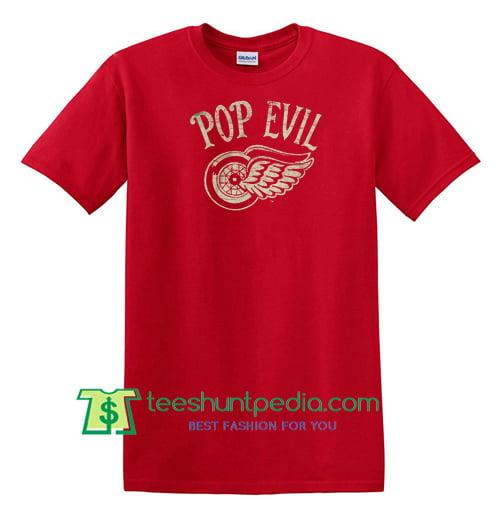 Pop Evil Vintage Wings T Shirt Maker Cheap