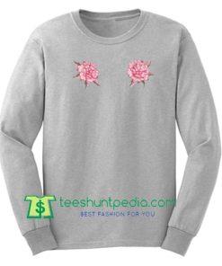 Rose Floral Print Sweatshirt Maker Cheap