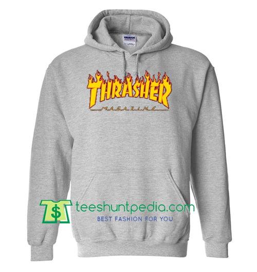 Buy Thrasher Magazine Flame Hoodie Maker Cheap from teeshuntpedia.com 9ecb09c1f