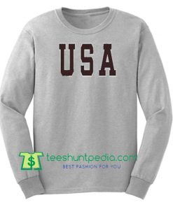 USA font Unisex Sweatshirts Maker Cheap