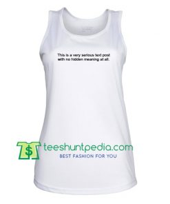 this is a very serious text post tank top Maker Cheap