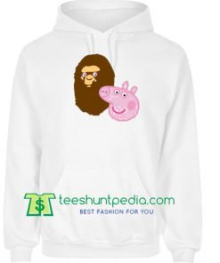 A Bathing Ape Bape Head X Peppa Pig Parody Hoodie Maker Cheap