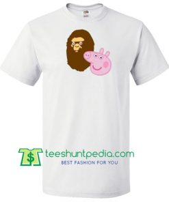 A Bathing Ape Bape Head X Peppa Pig Parody T Shirt gift tees adult unisex custom clothing Size S-3XL