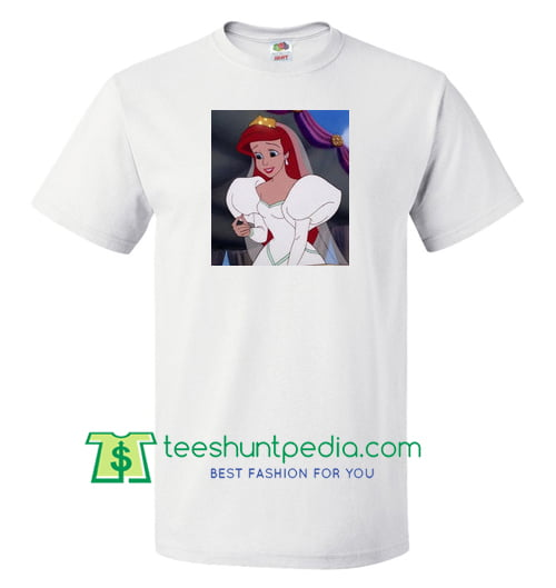 Ariel Mermaid Princess T shirt gift tees adult unisex custom clothing Size S-3XL