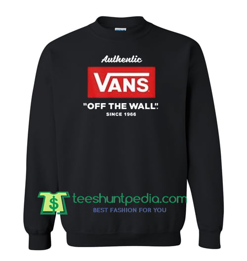 Authentic Vans Off The Wall Since 1966 Sweatshirt Maker Cheap