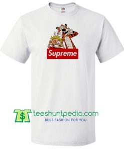 Calvin And Hobbes Supreme T Shirt gift tees adult unisex custom clothing Size S-3XL