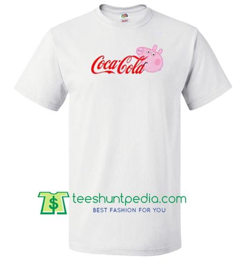 2080468fc43 Coca Cola Coke X Peppa Pig Parody T Shirt gift tees adult unisex custom  clothing Size