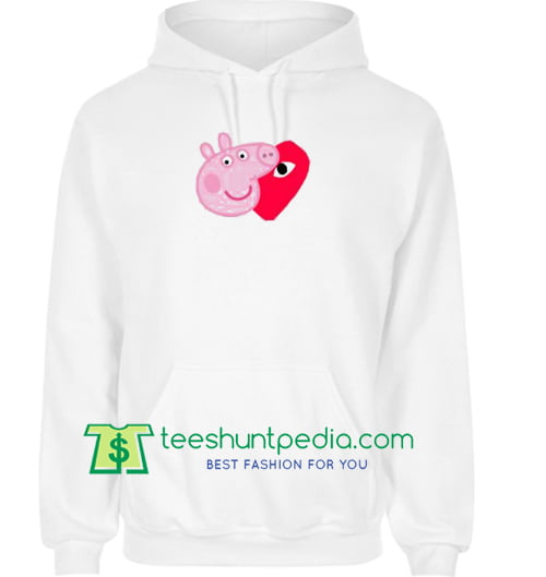 Comme Des Garcons Play X Peppa Pig Parody Hoodie Maker Cheap