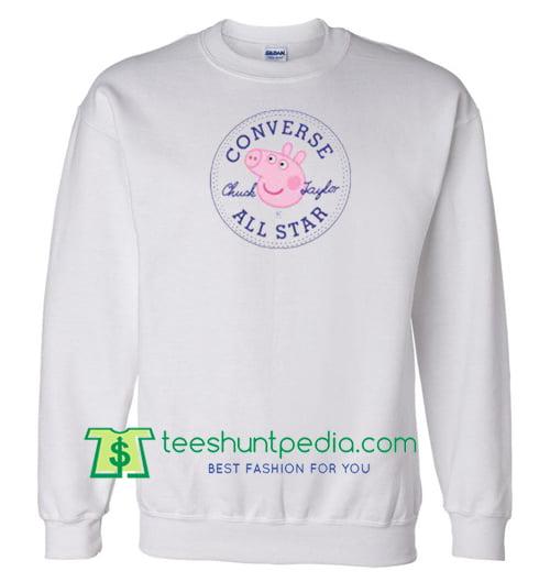 64fa72ddbee6 Converse All Star X Peppa Pig Parody Sweatshirt Maker Cheap