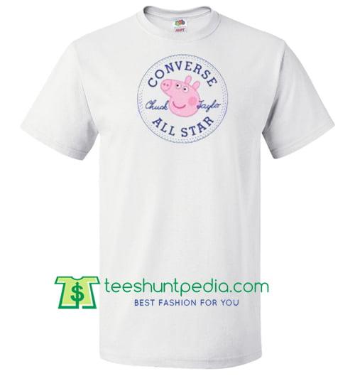 81341fdad8d2 Converse All Star X Peppa Pig Parody T Shirt gift tees adult unisex ...