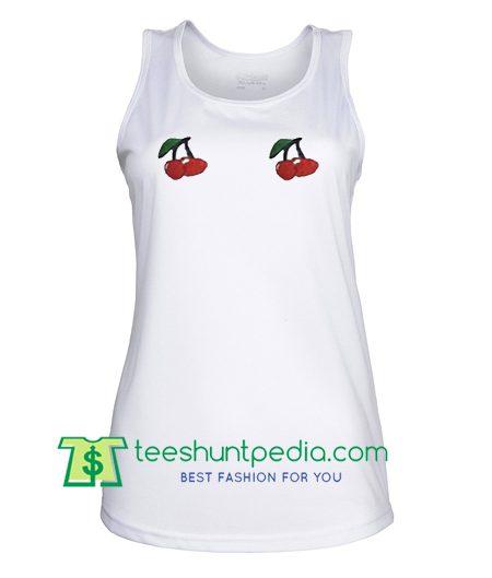 Double Cherry Tanktop gift shirt unisex custom clothing Size S-3XL