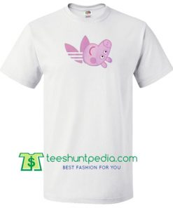 e5b8d97171fa4 Peppa Pig X Adidas Parody T Shirt gift tees adult unisex custom clothing Size  S-