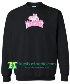 Peppa Pig X Thrasher Parody Sweatshirt Maker Cheap