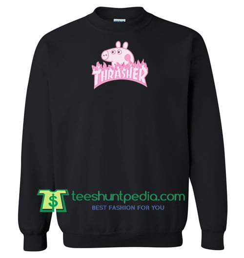 Peppa Pig X Thrasher Parody Sweatshirt Maker Cheap