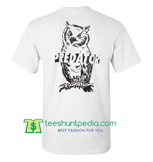 Predator Owl Back T Shirt gift tees adult unisex custom clothing Size S-3XL