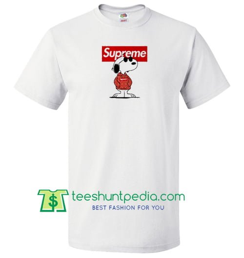 bb5694ceca9 Snoopy Supreme x Louis Vuitton Stay Stylish Joe Cool T Shirt gift tees  adult unisex custom clothing ...