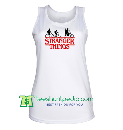 Stranger Things Bike Tank Top gift shirt unisex custom clothing Size S-3XL