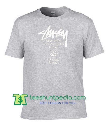 Stussy World Tour T Shirt gift tees adult unisex custom clothing Size S-3XL