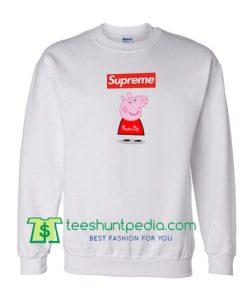 Supreme Box Red Peppa Pig Sweatshirt Maker Cheap
