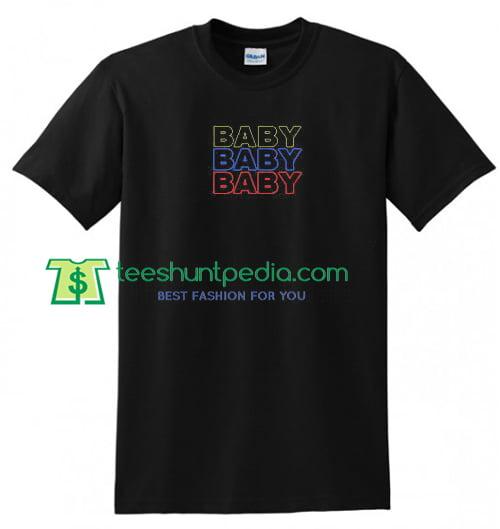 Triple Baby T Shirt gift tees adult unisex custom clothing Size S-3XL