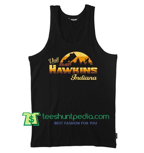 Visit Hawkins Indiana Tank Top gift shirt unisex custom clothing Size S-3XL