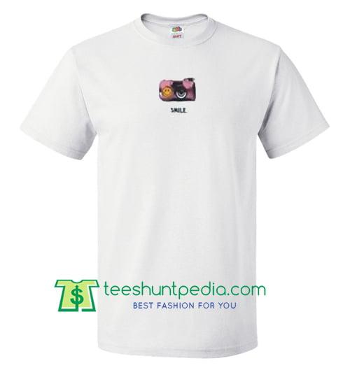 Smile Camera T Shirt gift tees adult unisex custom clothing Size S-3XL