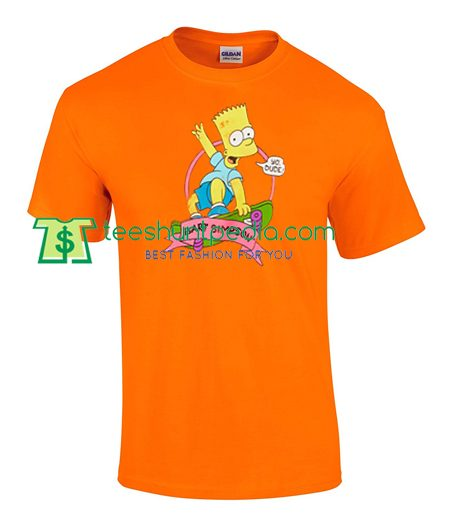 Bart Simpson Skatebard Yo Dude T Shirt gift tees adult unisex custom clothing Size S-3XL