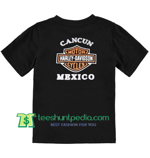 Cancun Harley Mexico Back T Shirt gift tees adult unisex custom clothing Size S-3XL