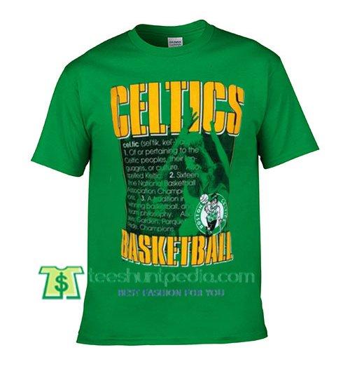Celtics Basketball T Shirt gift tees adult unisex custom clothing Size S-3XL