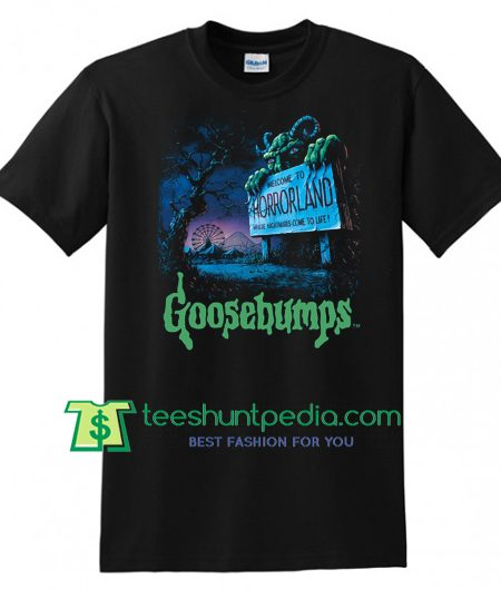 Goosebumps Movie 2018 T Shirt, Goosebumps Horrorland Shirt gift tees adult unisex custom clothing Size S-3XL