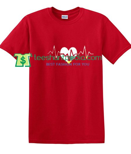 Heart Pulse T Shirt gift tees adult unisex custom clothing Size S-3XL