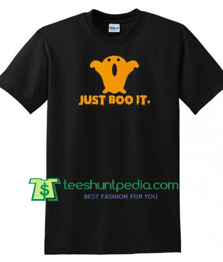 Just BOO It Halloween Funny T Shirt gift tees adult unisex custom clothing Size S-3XL