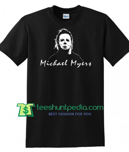 Michael Myers Mask Movie Vintage Halloween T Shirt gift tees adult unisex custom clothing Size S-3XL