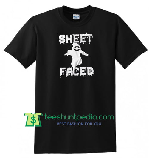 Sheet Faced, Halloween Gift, Halloween Party, Halloween Shirt gift tees adult unisex custom clothing Size S-3XL