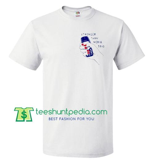 Stronger Than Nokia 3310 T Shirt gift tees adult unisex custom clothing Size S-3XL