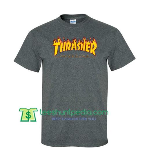 b3ef28671e67 Thrasher Magazine Logo T Shirt gift tees adult unisex custom clothing Size  S-3XL