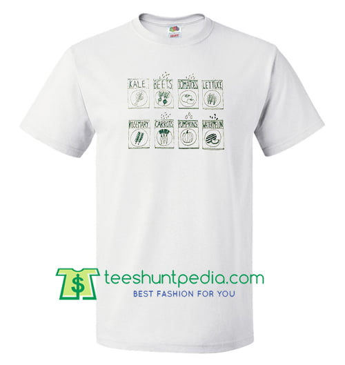 Various Green Vegetables T Shirt gift tees adult unisex custom clothing Size S-3XL