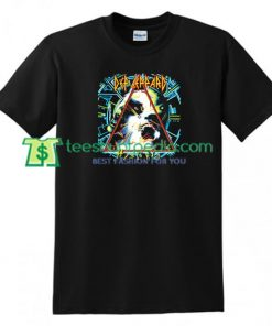 Vintage Def Leppard Tour T Shirt gift tees adult unisex custom clothing Size S-3XL
